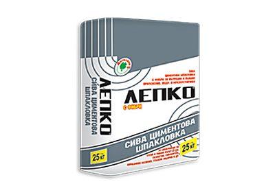 ЛЕПКО - Сива циментова шпакловка - 25 кг